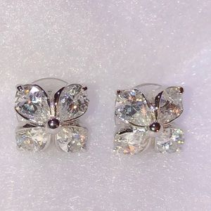 Coldwater Creek Flower Sparkle Earrings Pierced